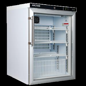 PRE 120 - Tủ mát bảo quản +2 đến +8°C, loại đứng, cửa kính, 117 lít Arctiko